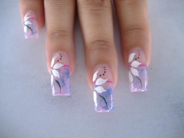 Relleno de uñas acrílicas