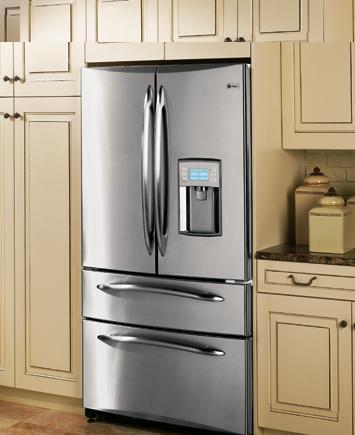Tecnología – Refrigerador de 4 puertas con estilo armario